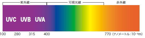 太陽の光には、目に見える光(可視光線)のほかに、目に見えない赤外線や紫外線が含まれています。紫外線とは地表に届く光の中で、最も波長の短いものです。