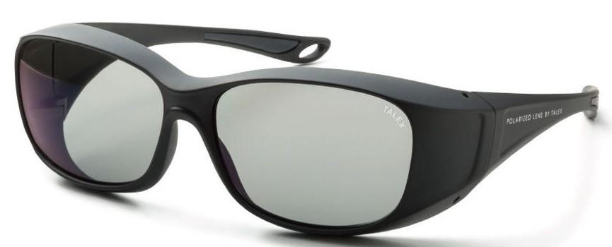 必要なときにメガネの上から掛ける快適な偏光サングラスEM6-D0301