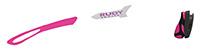 カスタムオーダーが出来るスポーツサングラスTRALYX SLIMブラック / ホワイト - フューシャブラック - フューシャ / フューシ