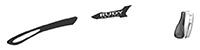 カスタムオーダーが出来るスポーツサングラスTRALYX SLIMブラック / ホワイト - ブラックブラック - グレイ / ホワイト