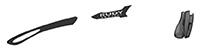 カスタムオーダーが出来るスポーツサングラスTRALYX SLIMブラック / ガン - クロームブラック - グレイ / ブラック
