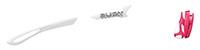 カスタムオーダーが出来るスポーツサングラスTRALYX SLIMホワイト / ホワイト - クロームホワイト - ルビー / ルビー