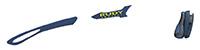 カスタムオーダーが出来るスポーツサングラスTRALYX SLIMブルーネイビー / ネイビー - クロームグレイ - ネイビー / ネイビー マット