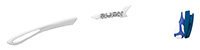 カスタムオーダーが出来るスポーツサングラスTRALYX SLIMホワイト / ホワイト - クロームホワイト - ブラック / ブルーメタル