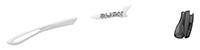 カスタムオーダーが出来るスポーツサングラスTRALYX SLIMホワイト / ホワイト - クロームブラック - グレイ / ブラック