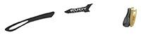 カスタムオーダーが出来るスポーツサングラスTRALYX SLIMブラック / ホワイト - ブラック ブラック - グレイ / ゴールド