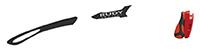カスタムオーダーが出来るスポーツサングラスTRALYX SLIMブラック / ホワイト - ブラックレッド - ブラック / ファイアレッド