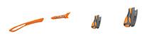 カスタムオーダーが出来るスポーツサングラスTRALYX SLIMマンダリン / クローム - マンダリンマンダリン - グレイ / ピヨンボ