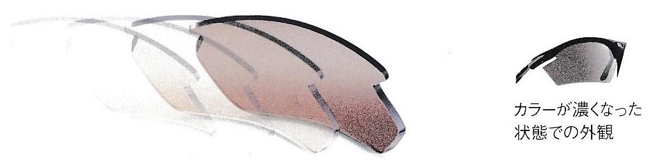 スポーツサングラスに適した割れにくい色の変わるカラーレンズインパクトX®2調光レーザーブラウンレンズ