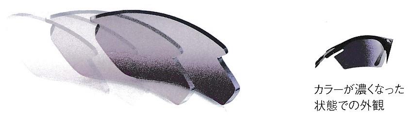 スポーツサングラスに適した割れにくい色の変わるカラーレンズインパクトX®2調光レーザーパープルレンズ