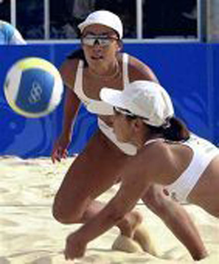 ビーチバレーボーるどきの女性用スポーツサングラス