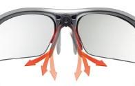 ご自身で鼻パッドが調整可能なレディース用スポーツサングラス
