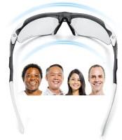 お青に添ったサングラス設計