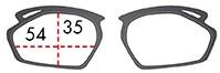 スポーツメガネフレームストラトフライ インナーフレームサイズ
