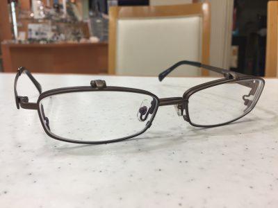 跳ね上げ式眼鏡の大きいサイズのメガネ