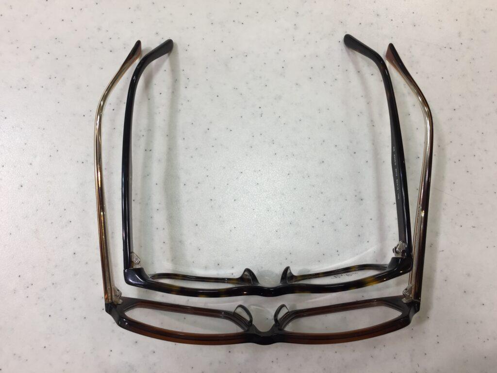 一般メガネとの大きさの違い