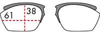 スポーツメガネフレームライドンダイレクトクリップサイズ