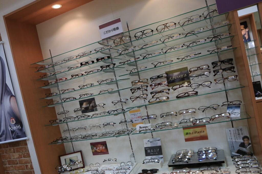 大きいメガネ枠を多数揃えました