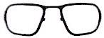 ゴーグルメガネ内に度付き対応として挿入するフフレーム