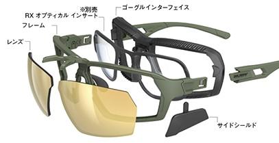視野の拡大する最先端テクノロジーを備えた多機能かつ高機能なサングラスゴーグル。