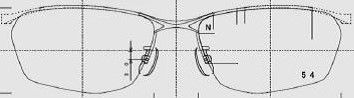 ヘルメットを被るかたのメガネのことを考慮した図面