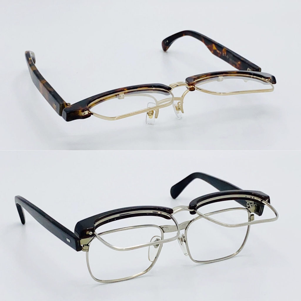 単式&複式跳ね上げメガネ