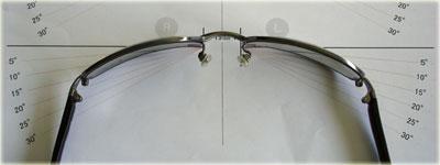 スポーツメガネのフロントカーブ計測表