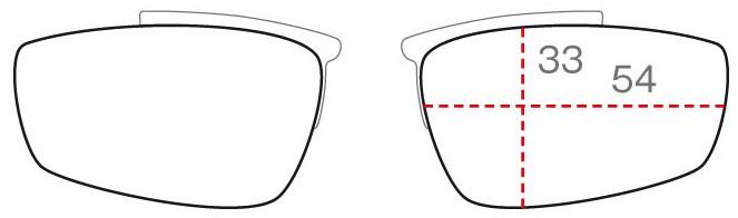 クリップのレンズ形状SHAPE B