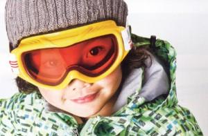 スキー時の子供用度付きゴーグル