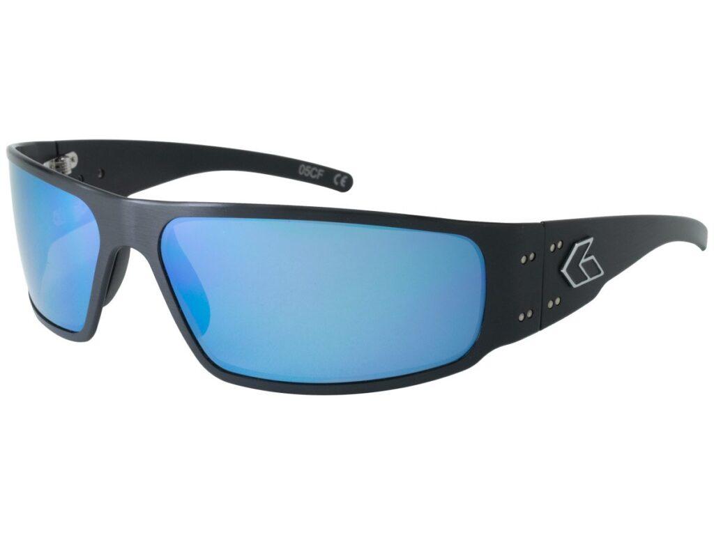 Black Frame / Blue Mirror Polarized Lenses