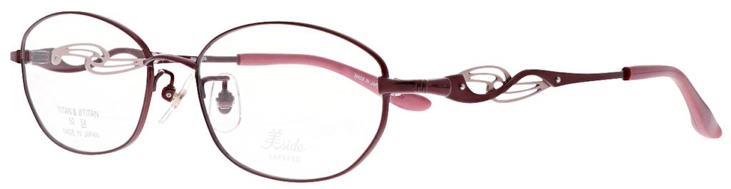 レディース用遠近両用眼鏡美サイド レイヤード BS5209